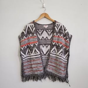 Arizona Jean's Co. | open front fringe poncho